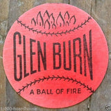 GLEN BURN Coal Scatter Tags Card 1930s