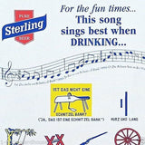 10 Vintage Original STERLING BEER SONG Sheets 1940 NOS Unused SING WHEN DRINKING