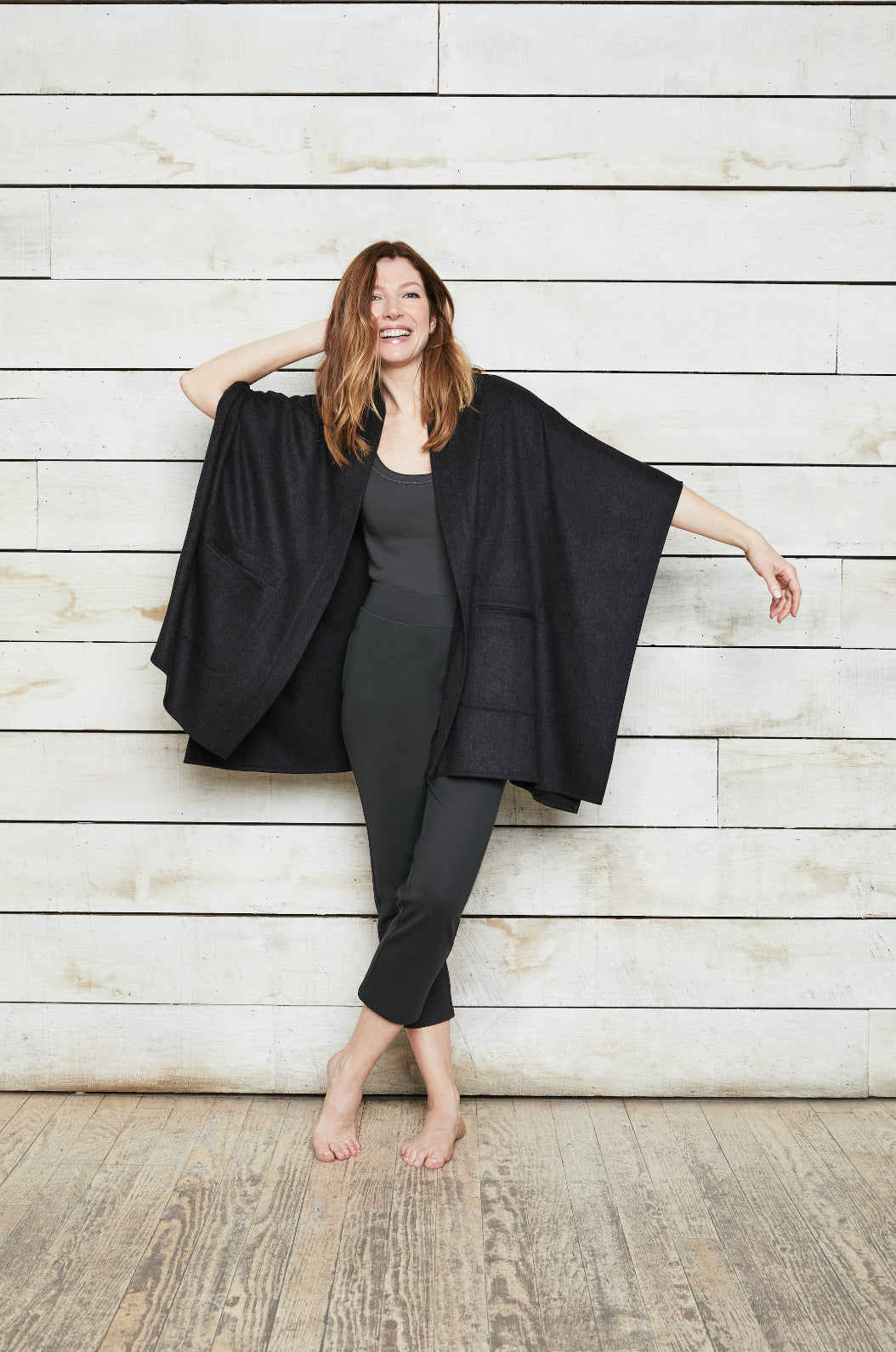 ROYL NYC | Luxury loungewear - LIGHTWEIGHT ITALIAN CASHMERE CAPE | ROYL