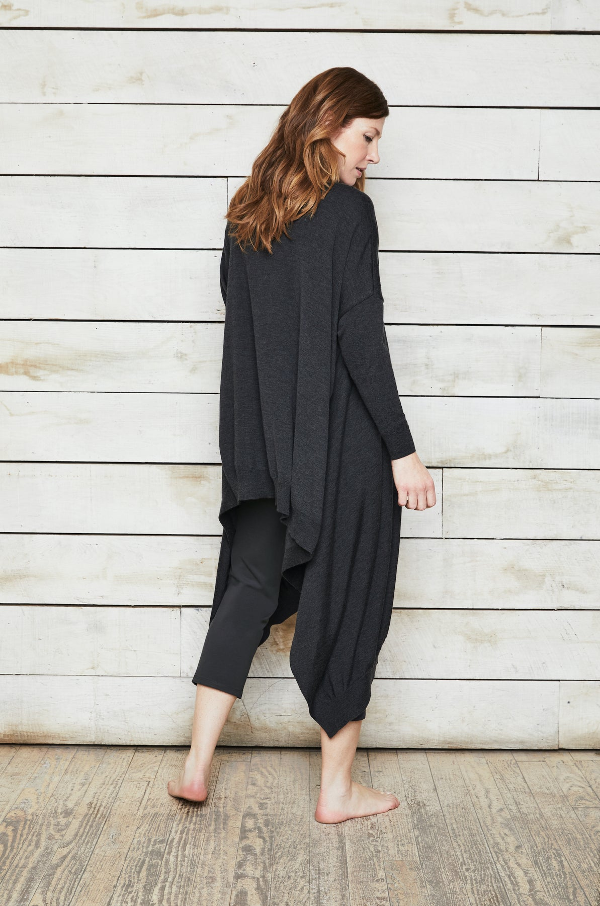 Luxury loungewear - SILK CASHMERE ASYMMETRIC CARDIGAN | ROYL