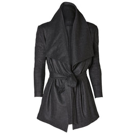 Dress in monochromatic outfits with ITALIAN CASHMERE WRAP JACKET | ROYL
