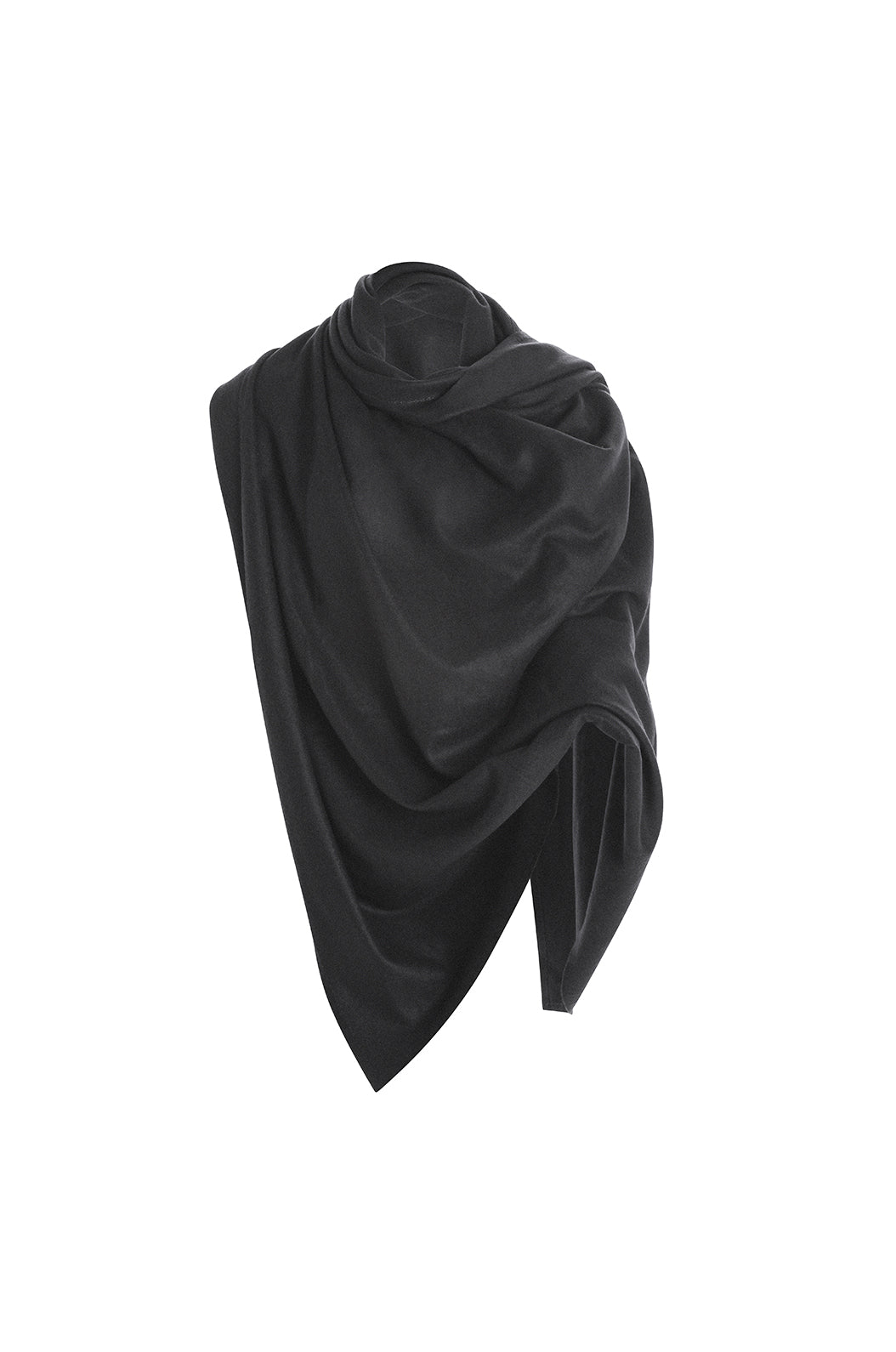Luxury loungewear - ITALIAN CASHMERE  TRAVEL WRAP - PHANTOM | ROYL