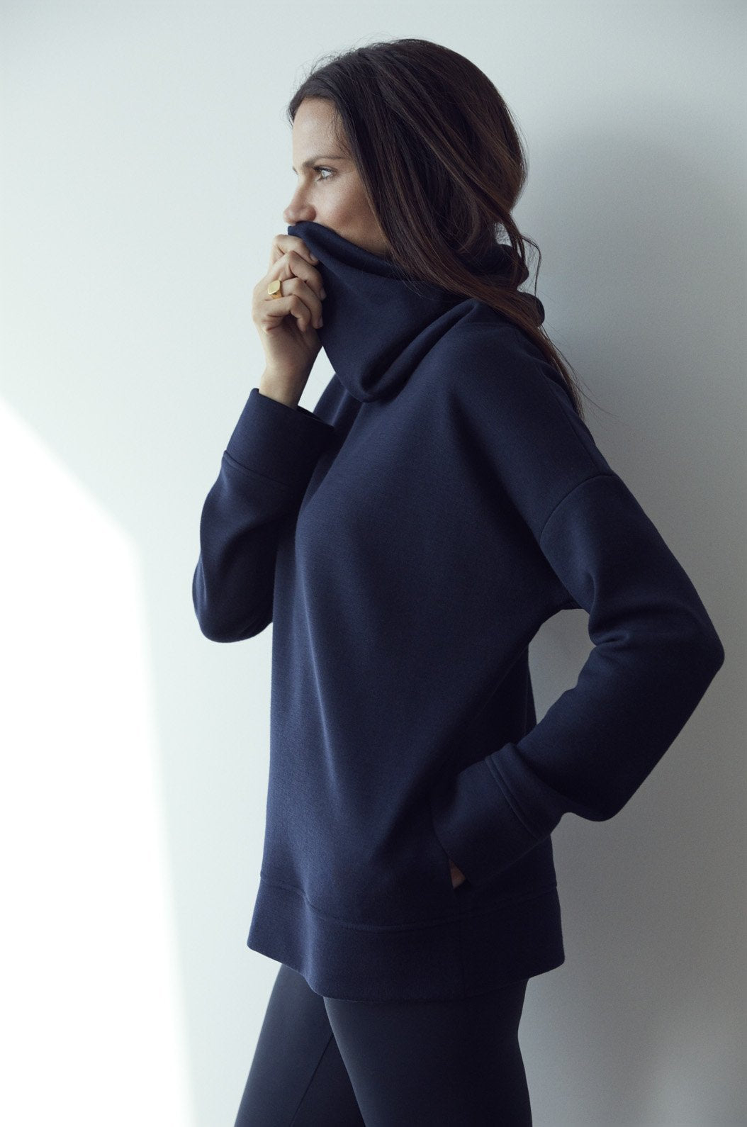Luxury loungewear - LUXE FUNNEL NECK SWEATSHIRT | ROYL