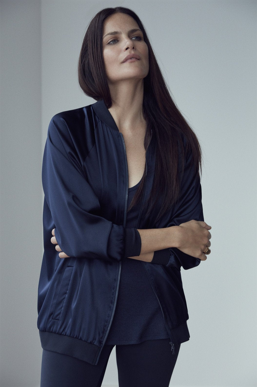 Luxury loungewear - LIGHTWEIGHT DOUBLE LAYER SILK BOMBER | ROYL