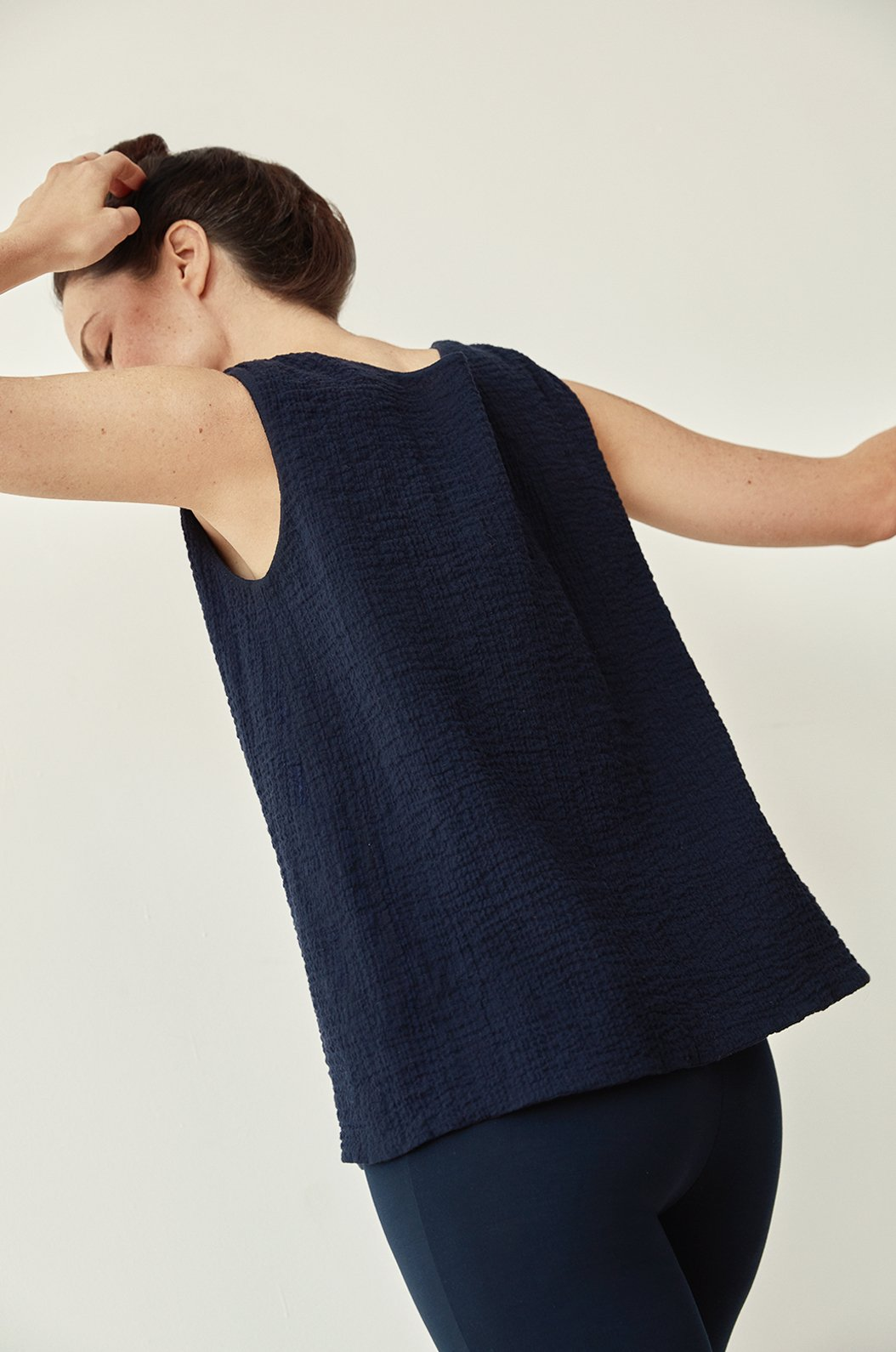 TEXTURED SOFT COTTON PEASANT TOP