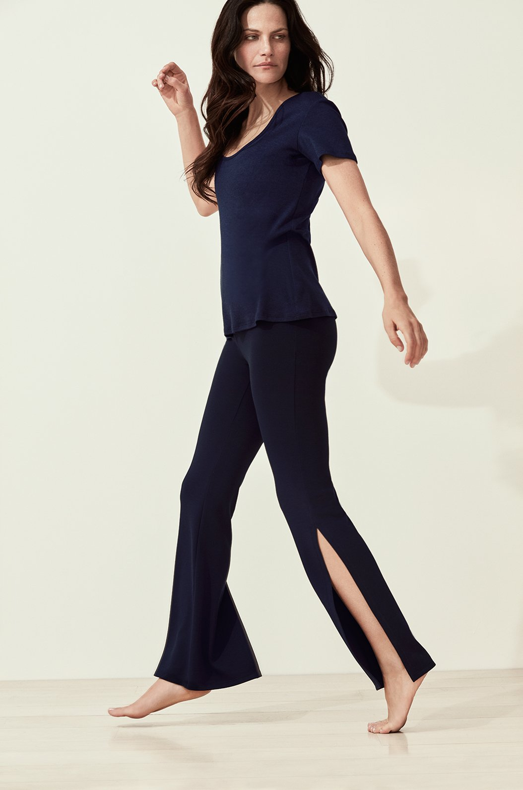 Luxury loungewear - ULTRA HIGH WAIST SIDE SLIT PANT | ROYL