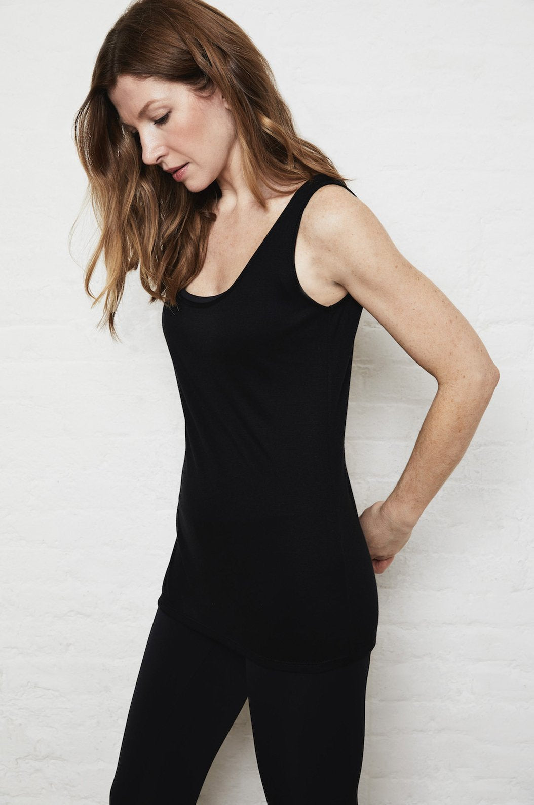 Luxury loungewear - LIGHTWEIGHT CASHMERE BLEND ELONGATED CAMISOLE TANK | ROYL