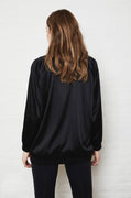 Luxury loungewear - LIGHTWEIGHT DOUBLE LAYER SILK BOMBER