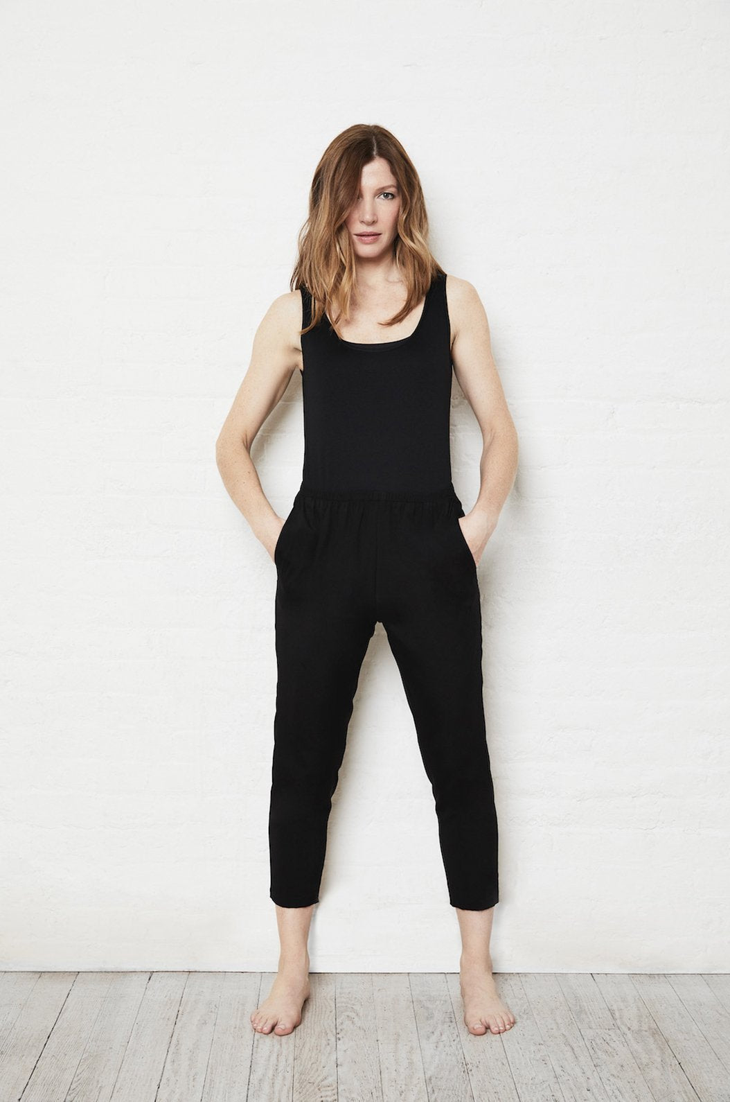 Luxury loungewear - SILK CROPPED PULL ON PANT | ROYL