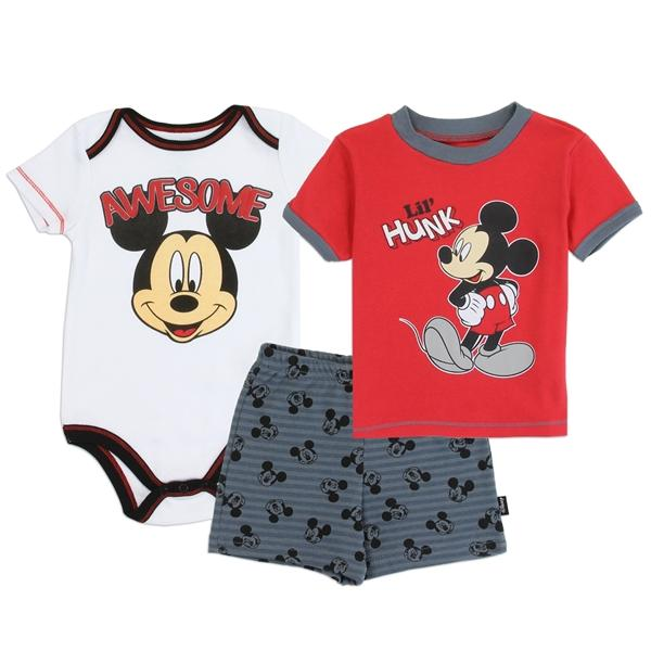 Mickey Mouse 3 Piece Set for Newborn Boys