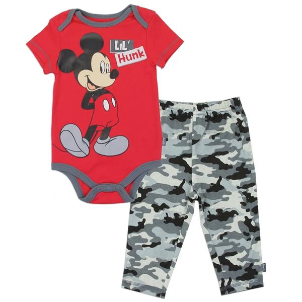 Minni Mouse Lil Hunk Printed Bodysuit & Bottom Set for Newborn Girls