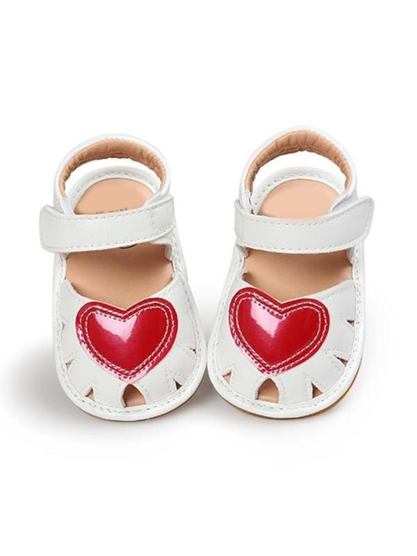 Cute Heart Pattern Soft-soled Shoes for Baby Girls