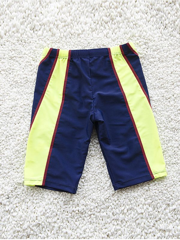Color Block Swimming Trunks for Toddler Boys
