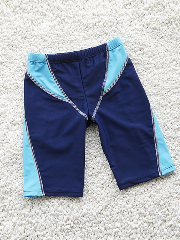 Color Block Swimming Trunks for Boys
