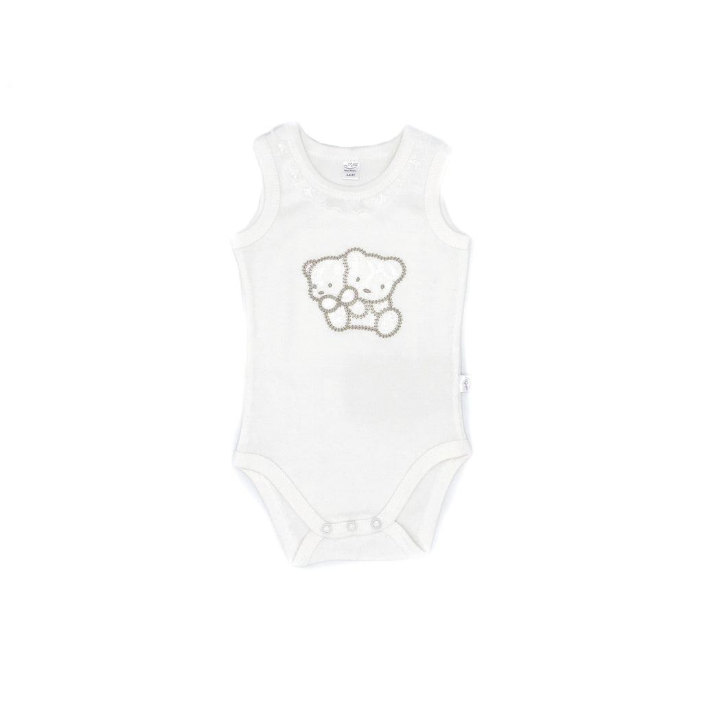 Baby Pino Friend Bear Embroidered Bodysuit for Toddler Girls
