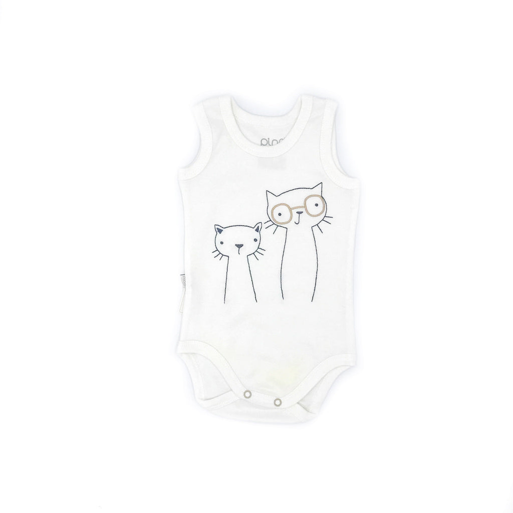 Baby Pino Friend Cat Embroidered Bodysuit for Toddler Girls
