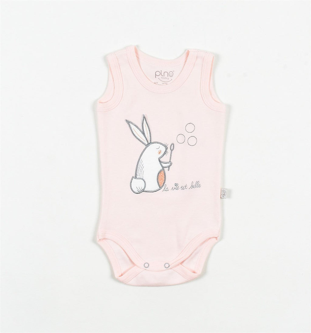 Baby Pino Rabbit Embroidered Bodysuit for Toddler Girls