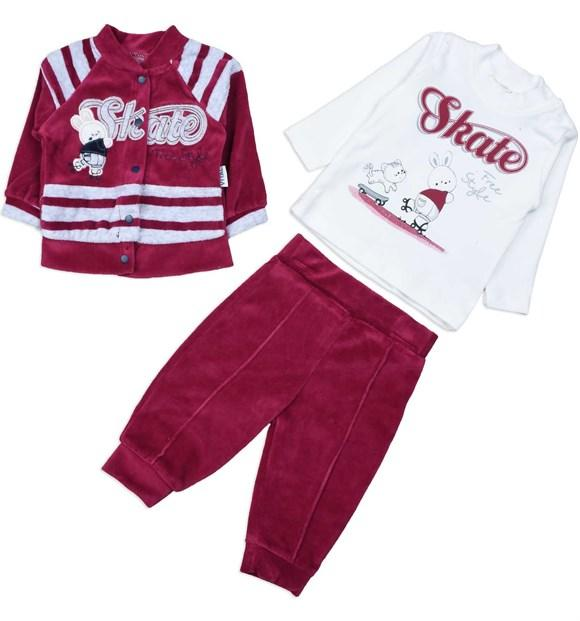 Vital Skate Print 3 Piece Set for Baby Boys
