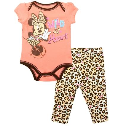 Minnie Mouse 2-Piece Creeper Pant Set for Newborn Girls
