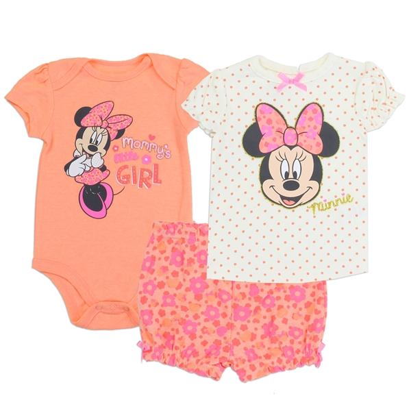 Minnie Mouse 3 Piece Set for Baby Girls