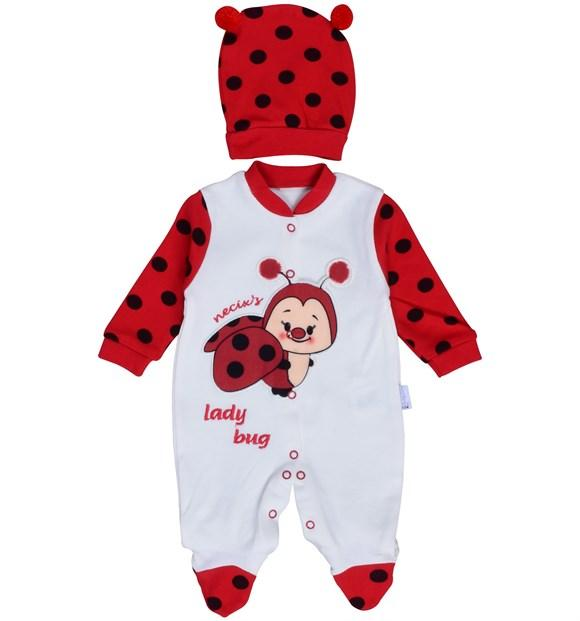 Necixs Lady Bug Bodysuit for Newborn Girls