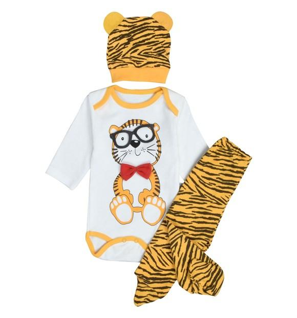 Pearly Baby Tiger Print 3 Piece Set for Baby Boys