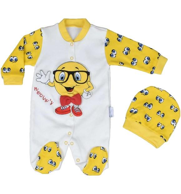 Necixs Baby Emoji Bodysuit for Baby Boys