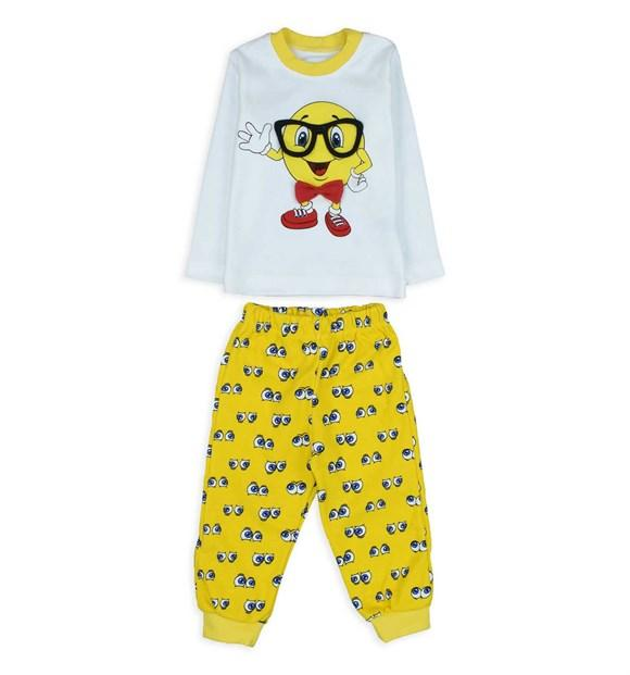 Pearly Baby Emoji 2 Piece Pajama Set for Baby Boys