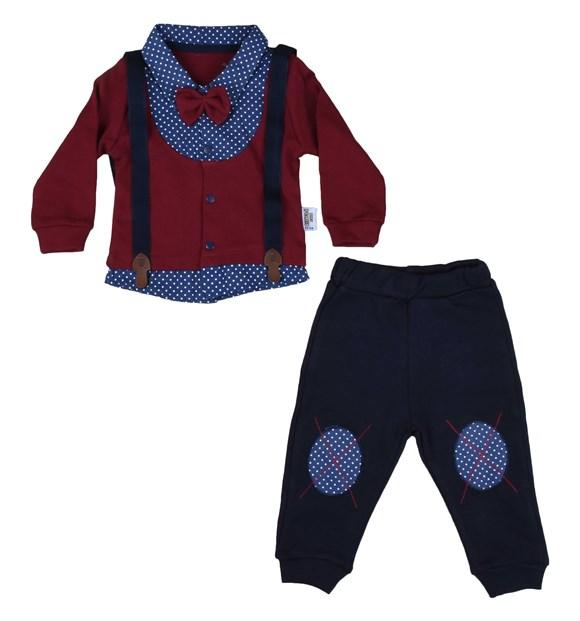 Pearly 2 Piece Salopet Set for Baby Boys