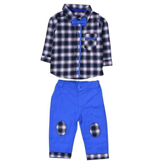 Necixs 2 Piece Plaid Set For Baby Boys