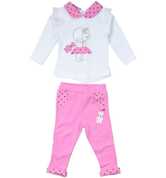 Necixs Baby Embroidered 2 Piece Set for Baby Girls