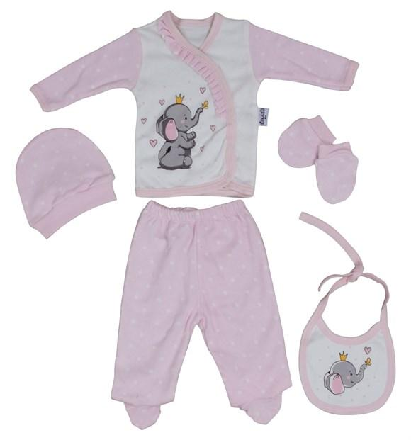 Necixs Cute Elephant 5 Piece Set for Newborn Girls