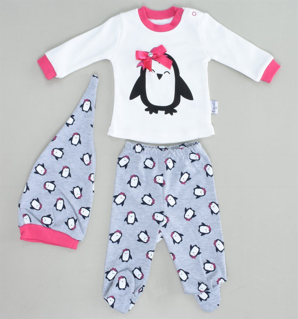 Necixs Cute Penguin 2 Piece Set for Newborn Girls
