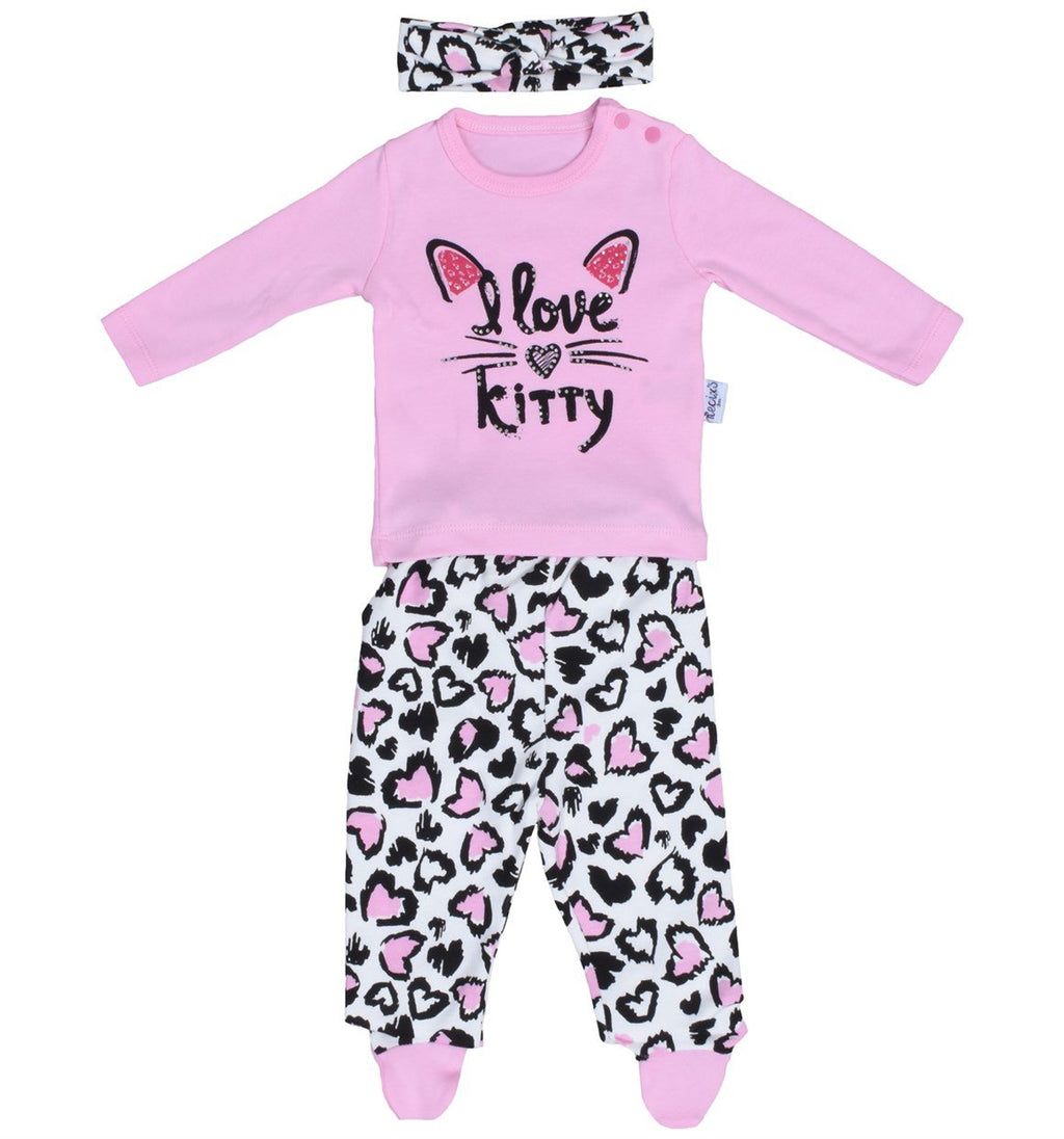38a39ee01 Necixs I love Kitty Print 2 Piece Set for Baby Girls – Storks in the sky