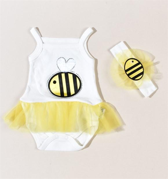 Necixs Bee Tutu Bodysuit for Baby Girls