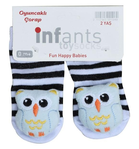 Owl Print Socks for Toddler Girls & Toddler Boys