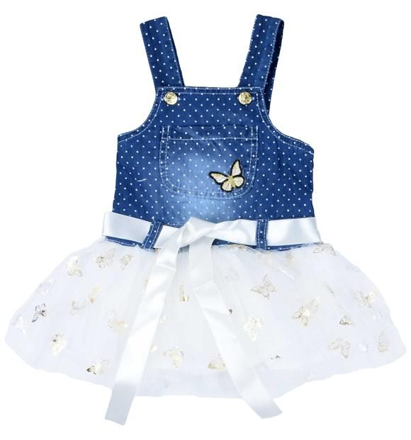 Picola Butterfly Embroidered Dress for Baby Girls