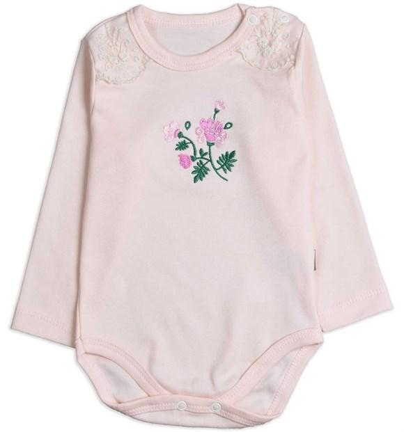 Puan Baby Flowers Embroidered Bodysuit for Newborn Girls