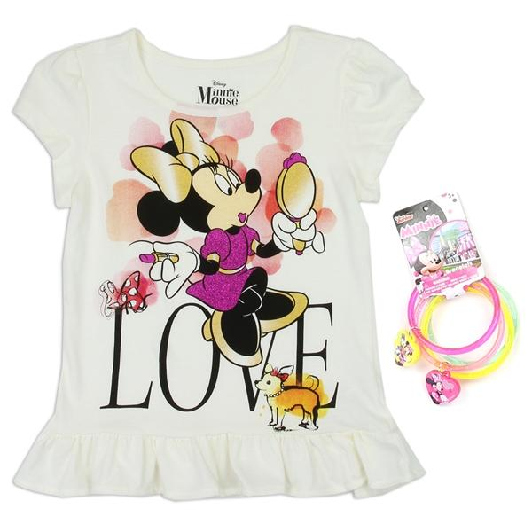 Minnie Mouse T-Shirt w/ Bracelets for Girls