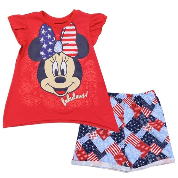 Minnie Mouse Fabulous Printed T-Shirt & Short Set for Girls