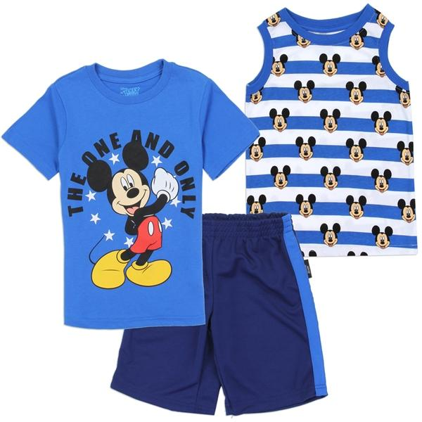 Mickey Mouse Short Sleeve-Sleeveless T-shirt & Short Set for ToddlerBoys