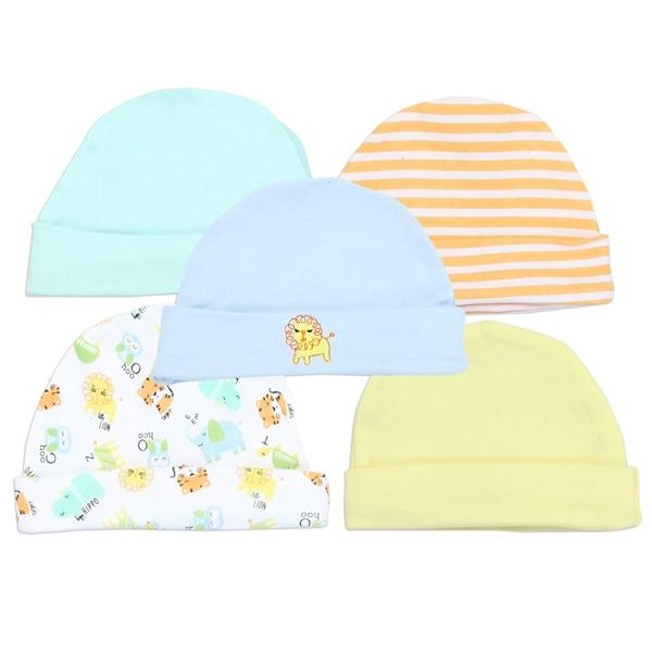 Little Beginnings 5-Pack Baby Caps For Baby Boys