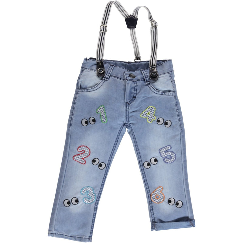Civil Boys Embroidered Jean for Toddler Boys