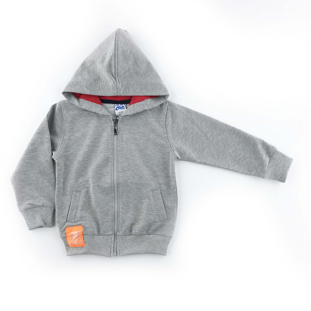 Civil Boys Free Style Basic Hoisery Hooded Cardigan for Toddler Boys