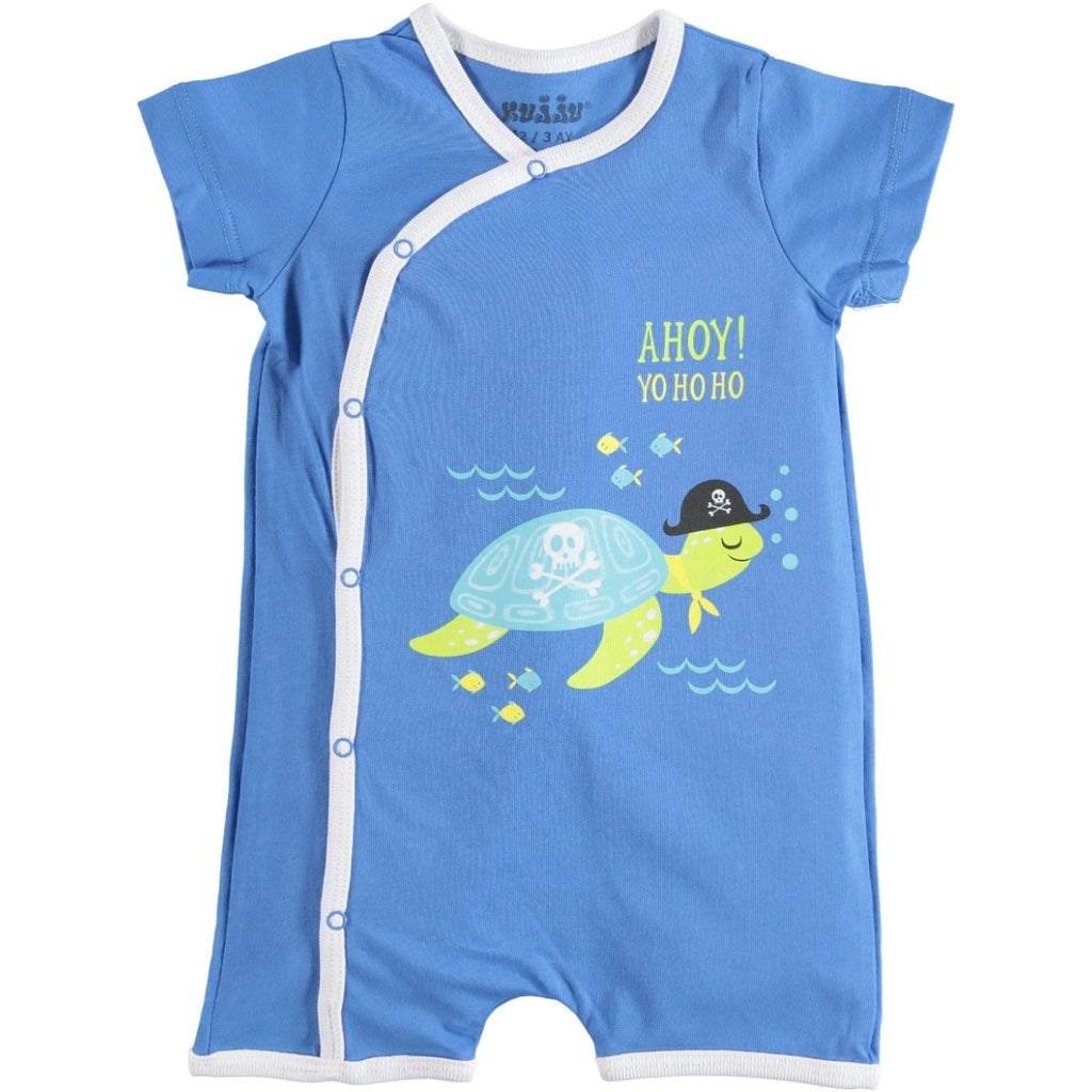 Kujju Ahoy! Turtle Printed Bodysuit for Baby Boys