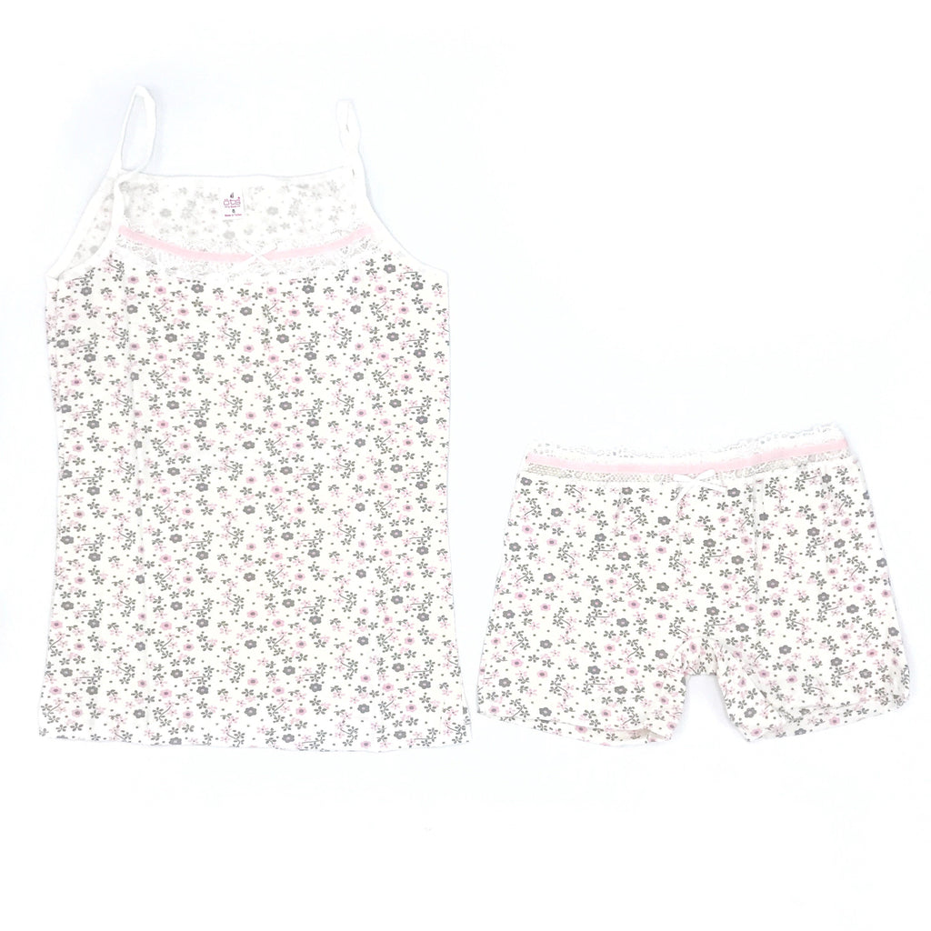OTS Green Flower Embellished Underwear & Undershirt Set for Girls