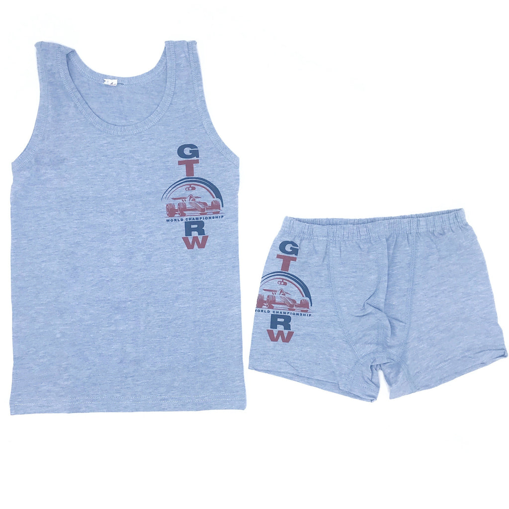OTS Hoisery Lycra Melange Underwear & Undershirt Set for Boys