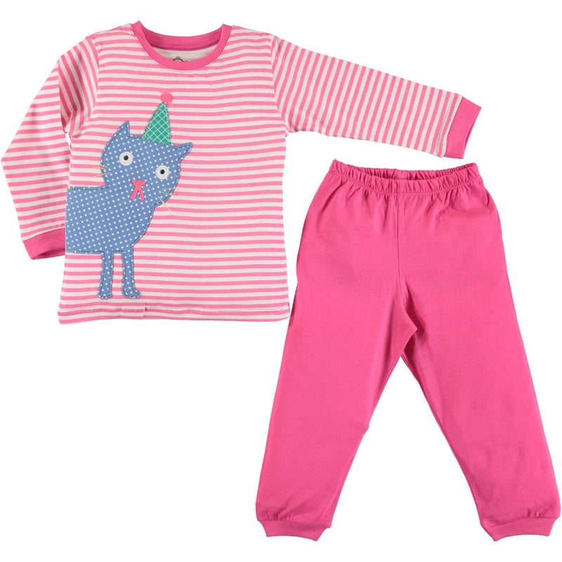 Civil Girls Cat Embellished Pajamas Set for Toddler Girls