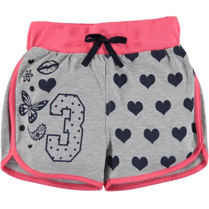 Civil Girls Butterfly Heart Printed Short For girls