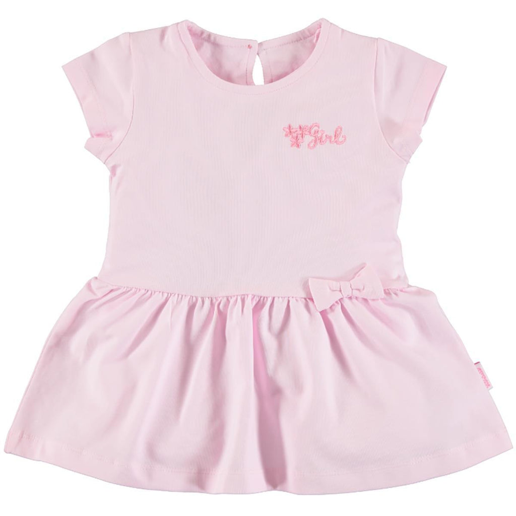 Kujju Short Sleeve Floral Embellished Dress for Baby Girls